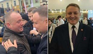 Andrzej Górzyński polityk Zjednoczonej Prawicy (na fot. po prawej).  Obok spotkanie prezydenta z nieznanym jak dotąd ojcem piątki dzieci.