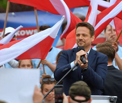 Rafał Trzaskowski na wiecu wyborczym w Szczecinie / fot. Marcin Bielecki