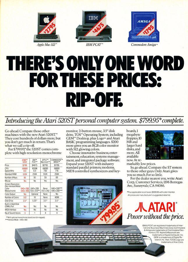 Ciężko się oprzeć wrażeniu, że w 1985 roku Atari ST było naprawdę dobrą propozycją.