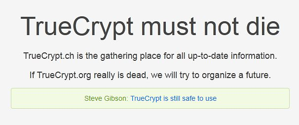 TrueCrypt must not die!