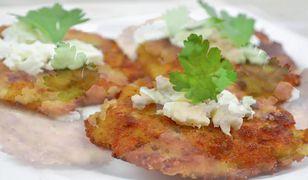 Placki ziemniaczane z serem feta