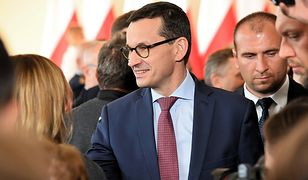 Premier Mateusz Morawiecki podczas spotkania z mieszkańcami Nowej Sarzyny