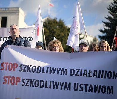 Protest rolników odbył się 26 lutego pod Sejmem