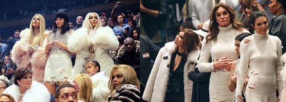 Kardashianki na pokazie Yeezy Season 3