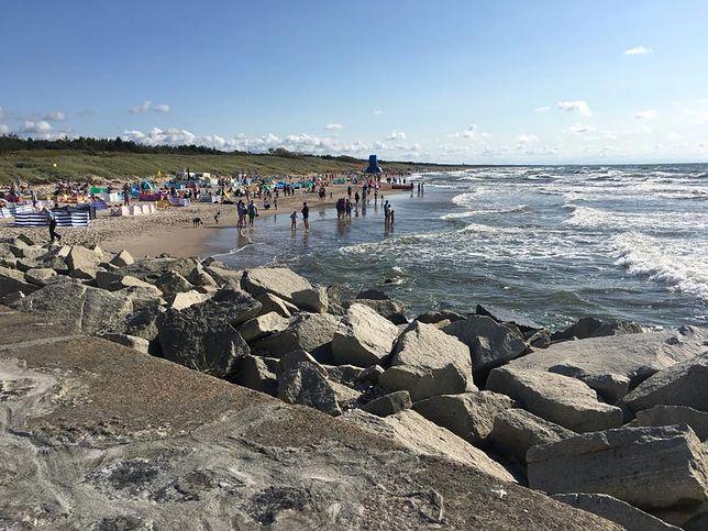 Morze porwało w Darłówku trójkę dzieci