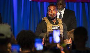 Kanye West podczas swojego pierwszego spotkania wyborczego