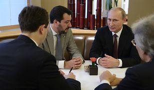 Spotkanie Władimira Putina i Matteo Salviniego w Mediolanie, w październiku 2014 r.