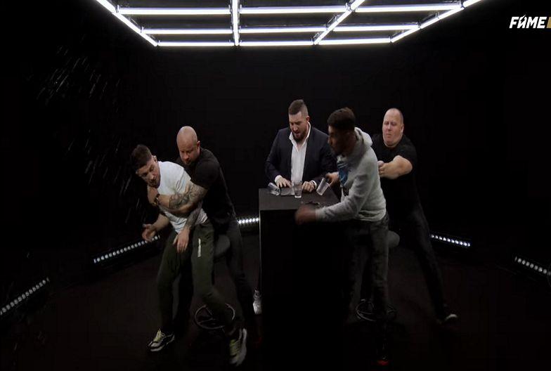 Pierwszy raz w FAME MMA! Wywiad przerwano, w ruch poszły szklanki