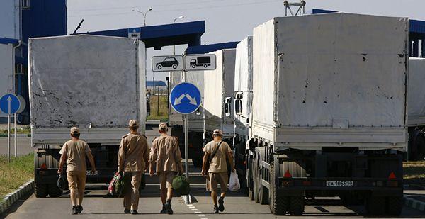 Ukraina rozpoczęła odprawę rosyjskiej pomocy humanitarnej