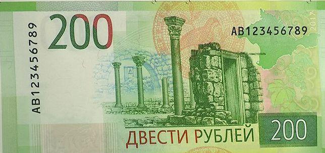 Na banknocie 200 rubli pojawi się Krym. To prztyczek w nos Ukrainie