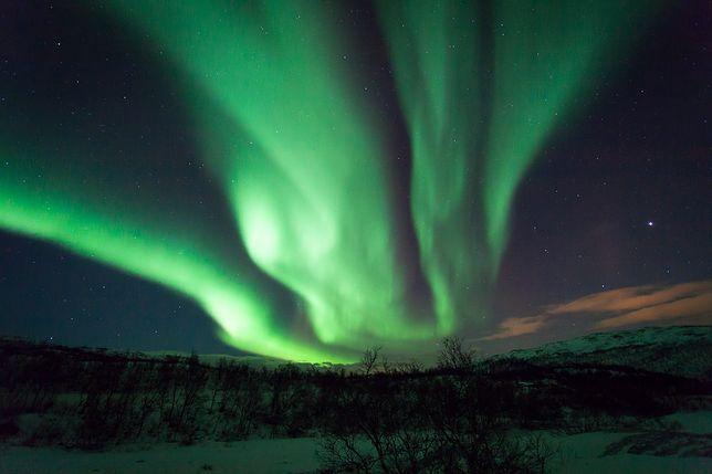 Magiczny widok zorzy polarnej