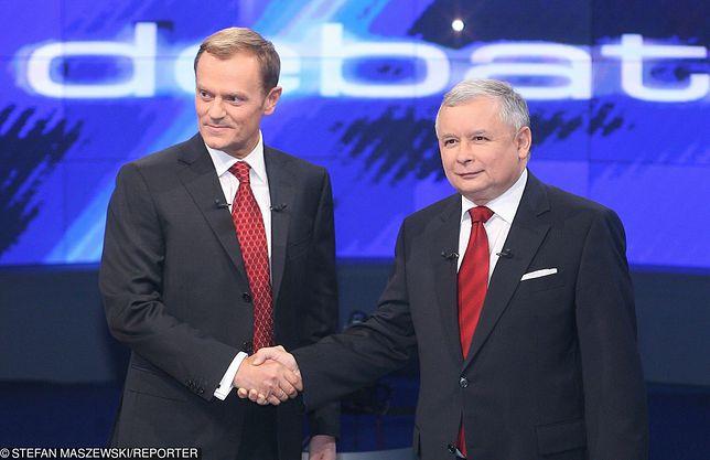 Donald Tusk i Jarosław Kaczyński, 2007 r.