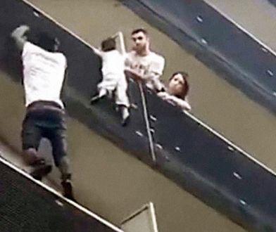 Ojciec chłopca, który wisiał na balkonie, został skazany na 3 miesiące. Dziecko uratowano