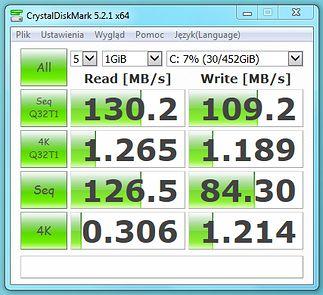 CrystalDiskMark - Standardowy HDD 500GB