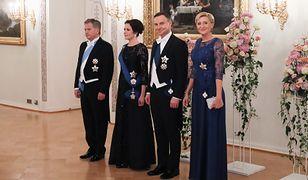 Błysk i błękit. Agata Duda w Finlandii postawiła na ulubione kolory