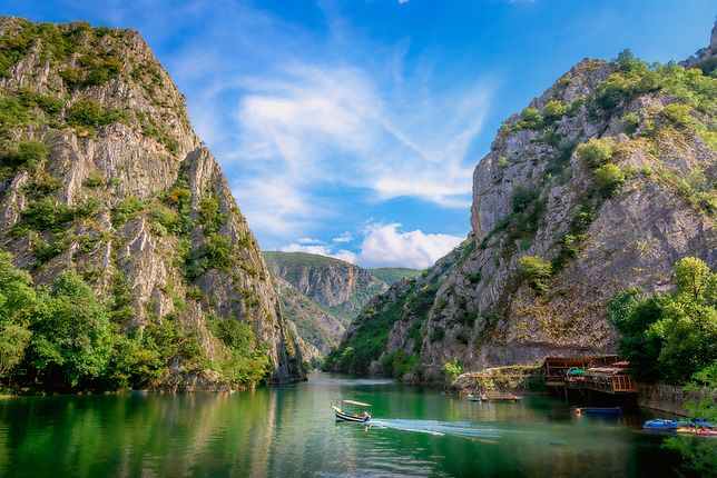 Kanion Matka leży niedaleko Skopje