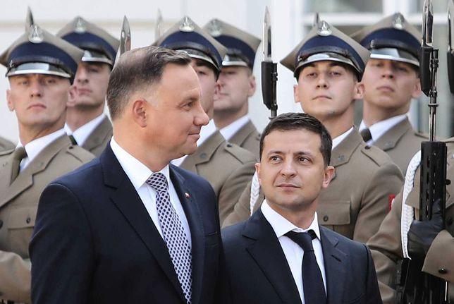 Wołodymyr Zełenski w Warszawie miał się spotkać nie tylko z Andrzejem Dudą, ale też i Donaldem Trumpem