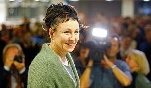 Olga Tokarczuk spotkała się z polskimi dziennikarzami.
