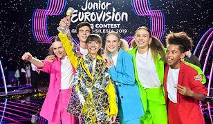 Wiktoria Gabor z uczestnikami Junior Eurovision 2019.