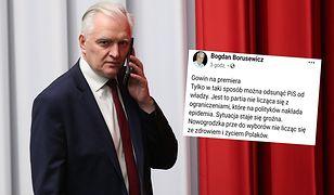 Bogdan Borusewicz widziałby w fotelu premiera szefa Porozumienia Jarosława Gowina