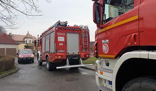 Śląskie. Burzliwa noc. Ponad 130 interwencji strażaków, głównie w powiatach wodzisławskim i raciborskim