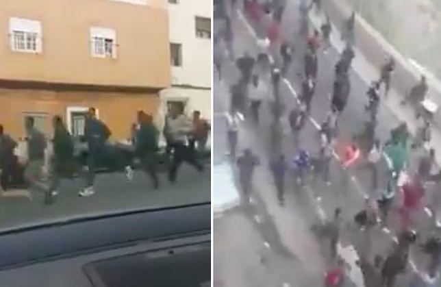 200 imigrantów szturmem wdarło się przez hiszpańską granicę