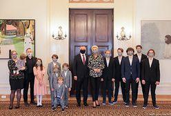 Joszko Broda z żoną i 11 dzieci u pary prezydenckiej. To było wyjątkowe spotkanie