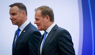 Andrzej Duda wygrywa z Donaldem Tuskiem w przeprowadzonym badaniu.