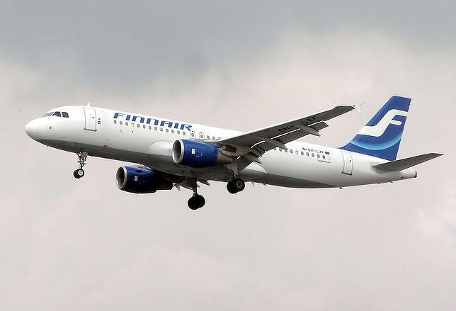 Samoloty linii Finnair pomalowane są na biel i błękit