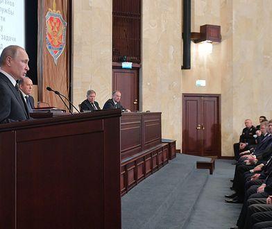Władimir Putin na odprawie Służby Wywiadu Zagranicznego Federacji Rosyjskiej w marciu 2019 r.