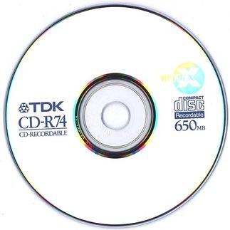 Średniej jakości CD-R 650 MB popularny na początku XXI wieku