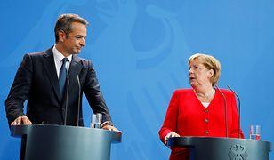 Niemcy. Kiriakos Micotakis w Berlinie. Żąda reparacji od Angeli Merkel