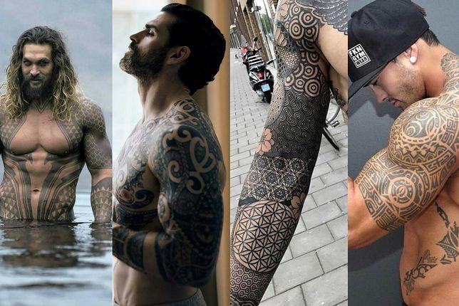 Wzory męskich tatuaży tribali