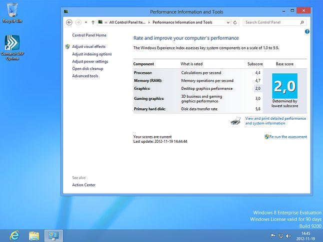 komputer ze starym dyskiem SATA 80GB, Win Ent Eval 32bit