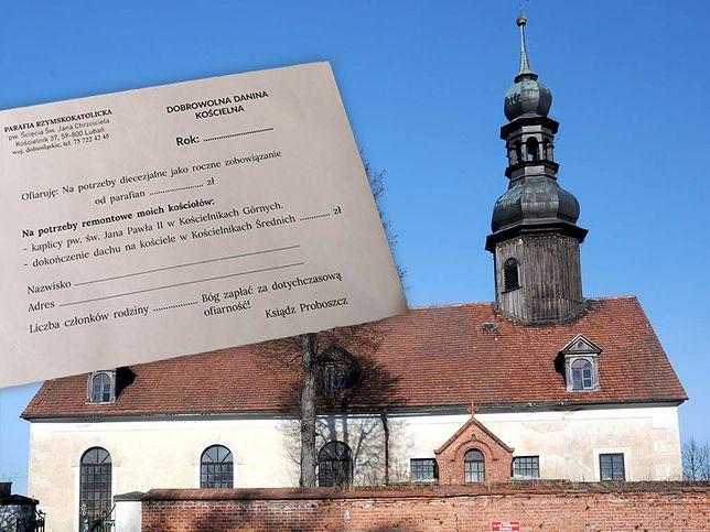 """Kościelnik. Zamiast koperty będzie """"danina"""". Dobrowolny datek oburzył parafian"""