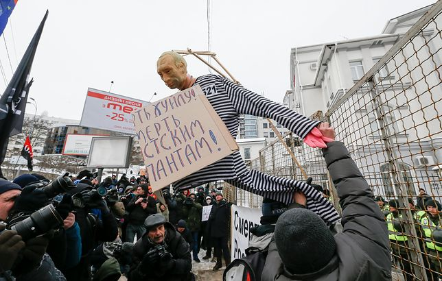 """Ukraina """"uśmierciła"""" Putina w dzień wyborów. """"Won, moskiewscy okupanci"""""""