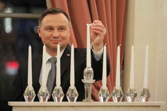 W niedzielę prezydent zapalił w Pałacu Prezydenckim świece chanukowe
