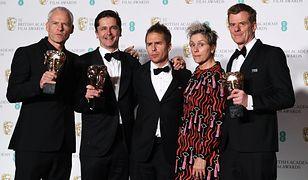 Od lewej: Martin McDonagh , Peter Czernin, Sam Rockwell, Frances McDormand i Graham Broadbent