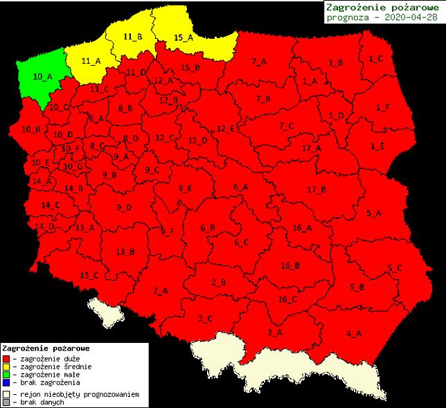 Mazowsze. Mapę zagrożenia pożarowego aktualizuje Instytut Badawczy Leśnictwa