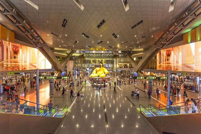 Terminal lotniska w Doha (zdjęcie ilustracyjne)