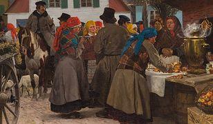 """Stanisław Witkiewicz """"Jarmark w miasteczku"""" (1882). Oto jeden z obrazów wystawionych na czwartkową aukcję"""