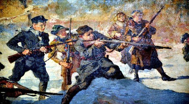 """Po II wojnie światowej ślad po nim zaginął. Obraz """"Orlęta lwowskie"""" odnaleziony"""