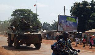 Francuskie siły na ulicach stolicy Republiki Środkowoafrykańskiej, Bangi