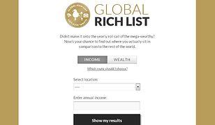 Czy wiesz, jak bardzo jesteś bogaty?