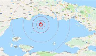 Trzęsienie ziemi w Turcji z epicentrum w Morzu Marmara