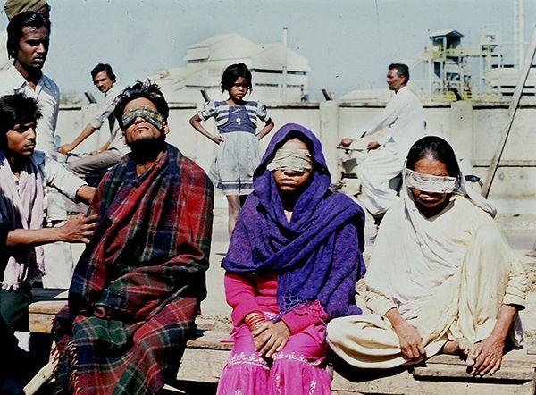 Niektóre ofiary katastrofy utraciły wzrok