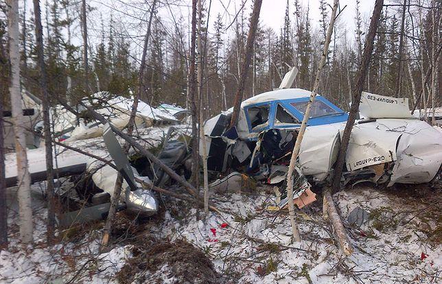Miejsce katastrofy L-410 w pobliżu osady Nielkan