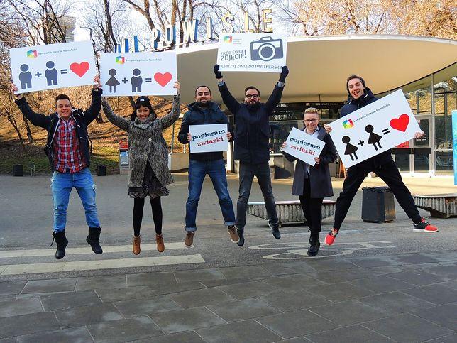 Walentynkowy happening przeciw homofobii