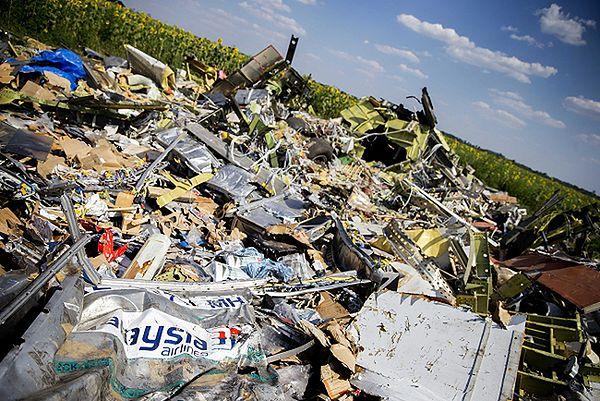 Miejsce katastrofy samolotu Malaysia Airlines