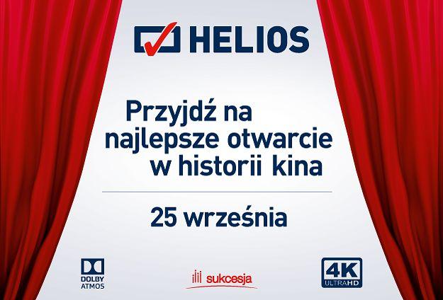 Wielkie otwarcie kina Helios w Sukcesji! Łódź pozna nową jakość kina!